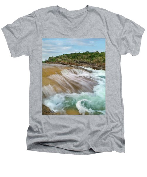 Pedernales Falls Men's V-Neck T-Shirt