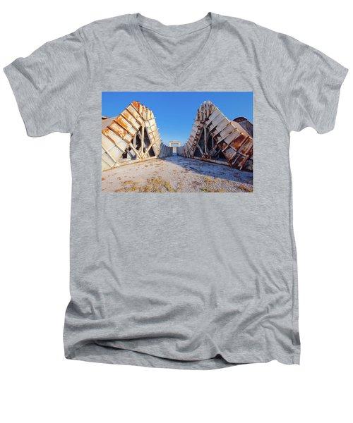 Pedestal Between The Deflectors Men's V-Neck T-Shirt