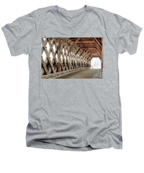 Pedestrian Bridge Guelph Ontario Men's V-Neck T-Shirt