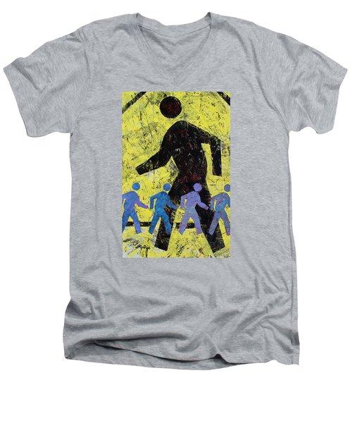 Pedestrian Crossing Men's V-Neck T-Shirt