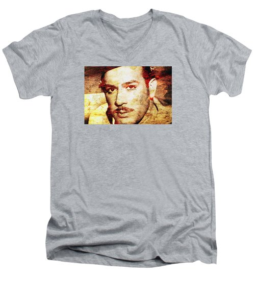 Pedro Infante Men's V-Neck T-Shirt by J- J- Espinoza