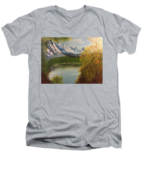 Peek-a-boo Mountain Men's V-Neck T-Shirt