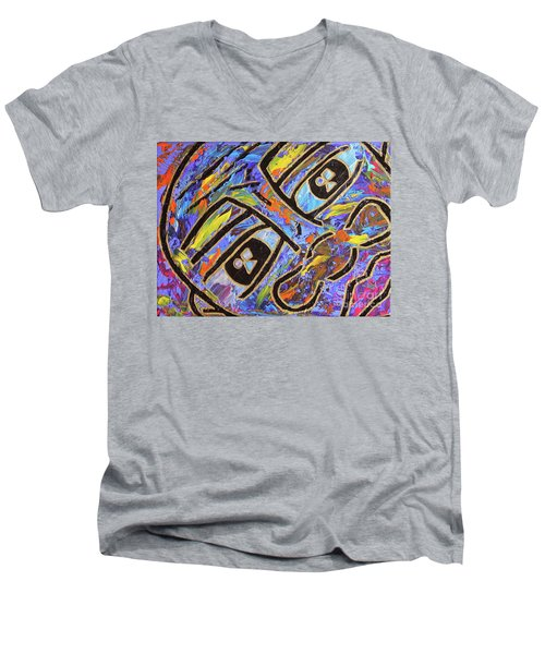Peek-a-boo Men's V-Neck T-Shirt