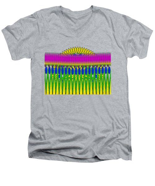 Peeking Sun Abstract By Kaye Menner Men's V-Neck T-Shirt