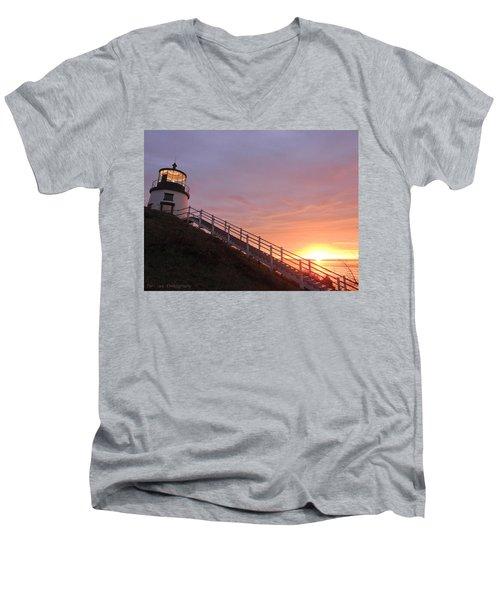 Peeking Sunrise Men's V-Neck T-Shirt