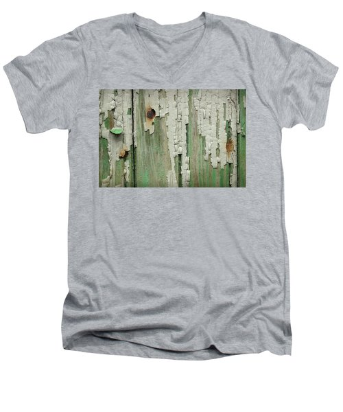 Men's V-Neck T-Shirt featuring the photograph Peeling 3 by Mike Eingle