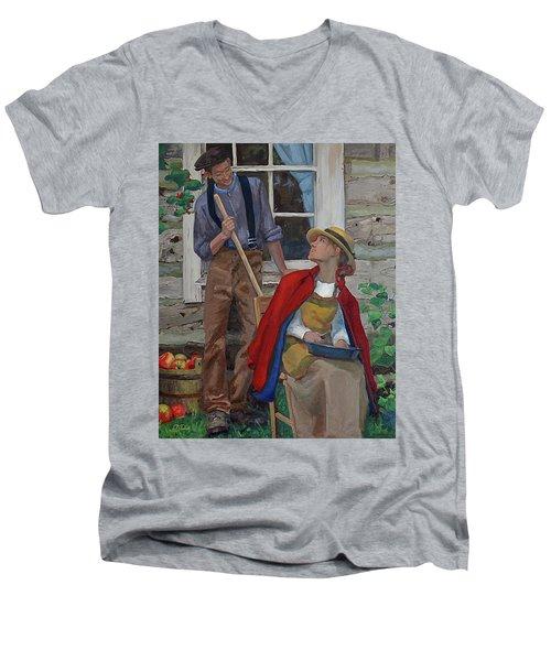 Peeling Apples Men's V-Neck T-Shirt