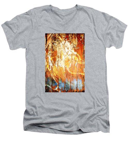 Peeling Wall Portrait Men's V-Neck T-Shirt
