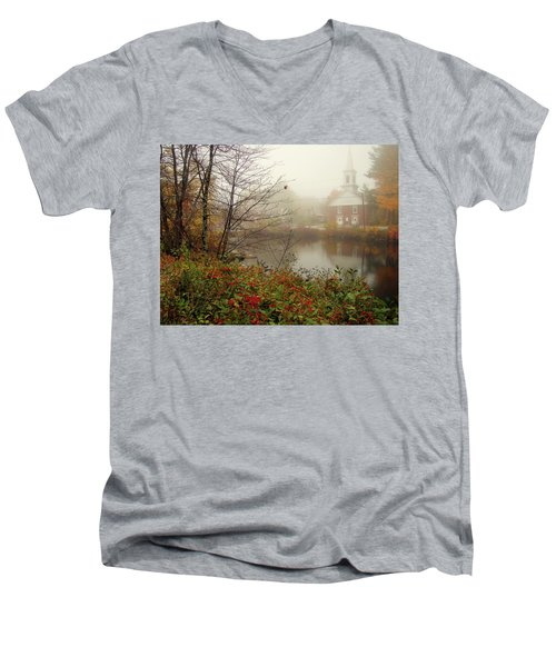 Foggy Glimpse Men's V-Neck T-Shirt by Betsy Zimmerli