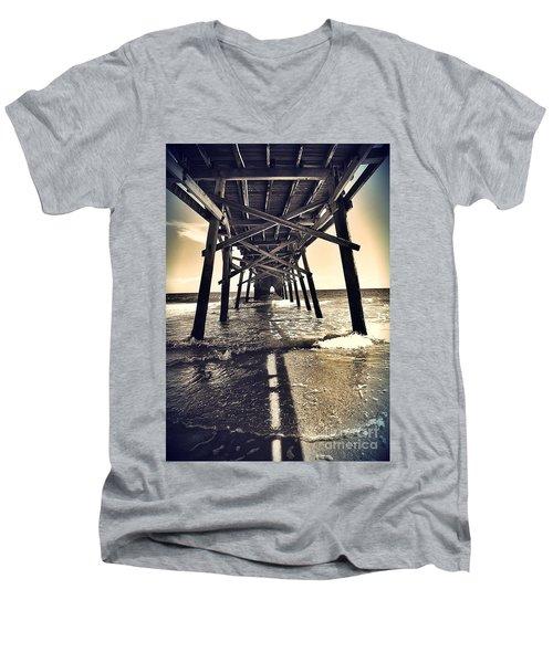 Peir View  Men's V-Neck T-Shirt by Christy Ricafrente