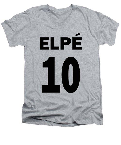 Pele 10 Men's V-Neck T-Shirt by Charlie Ross