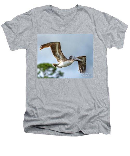 Pelican-4443 Men's V-Neck T-Shirt