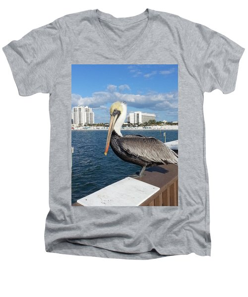 Pelican -florida Men's V-Neck T-Shirt