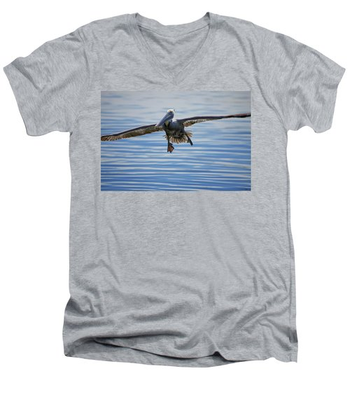 Pelican On Approach Men's V-Neck T-Shirt