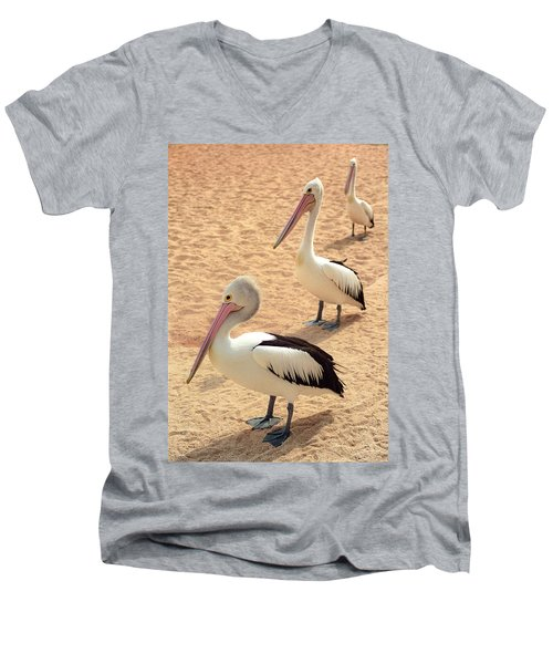 Pelicans Seriously Chillin' Men's V-Neck T-Shirt