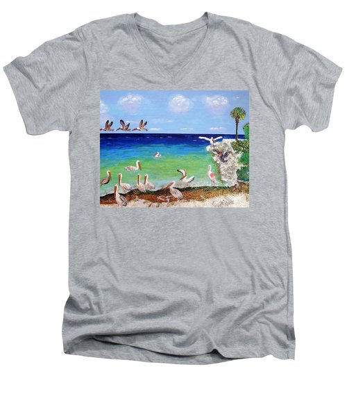 Pelicans Men's V-Neck T-Shirt