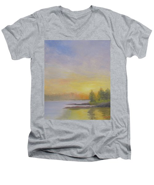 Pemaquid Beach Sunset Men's V-Neck T-Shirt