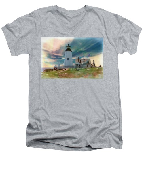 Pemaquid Lighthouse,maine Men's V-Neck T-Shirt