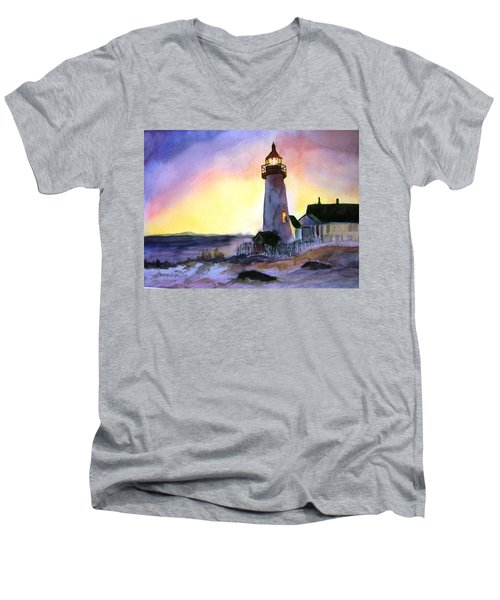 Pemaquid Point Lighthouse Maine Men's V-Neck T-Shirt