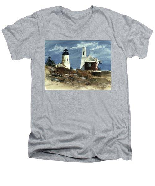 Pemaquid Point Lighthouse  Men's V-Neck T-Shirt