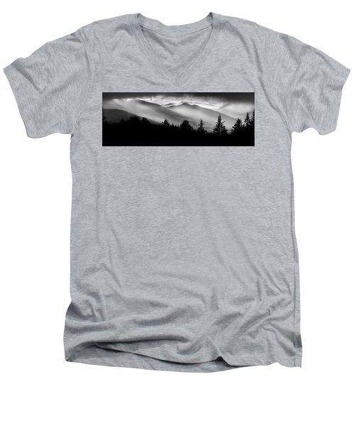 Men's V-Neck T-Shirt featuring the photograph Pemigewasset Wilderness by Bill Wakeley