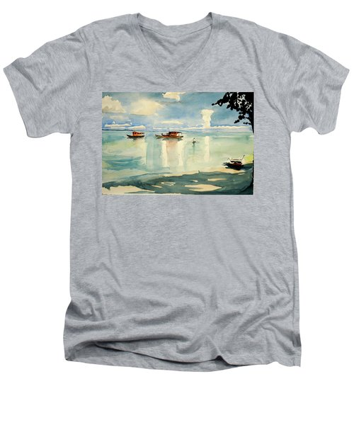 Penang Beach Men's V-Neck T-Shirt