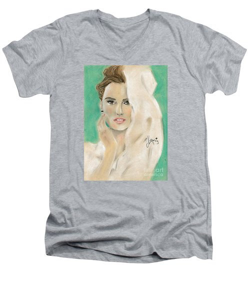 Penelope Cruz Men's V-Neck T-Shirt