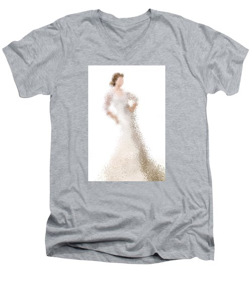 Men's V-Neck T-Shirt featuring the digital art Penelope by Nancy Levan