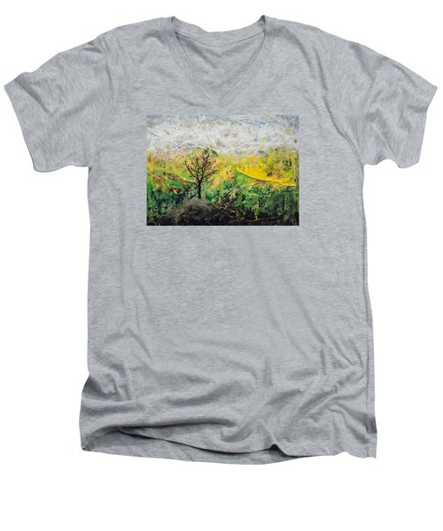Peneplain Men's V-Neck T-Shirt by Ron Richard Baviello