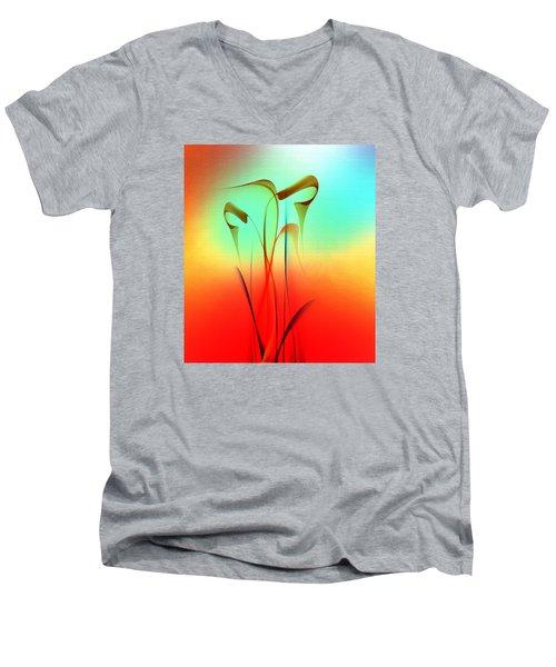 Penman Original- 398- Art For Peace Men's V-Neck T-Shirt by Andrew Penman