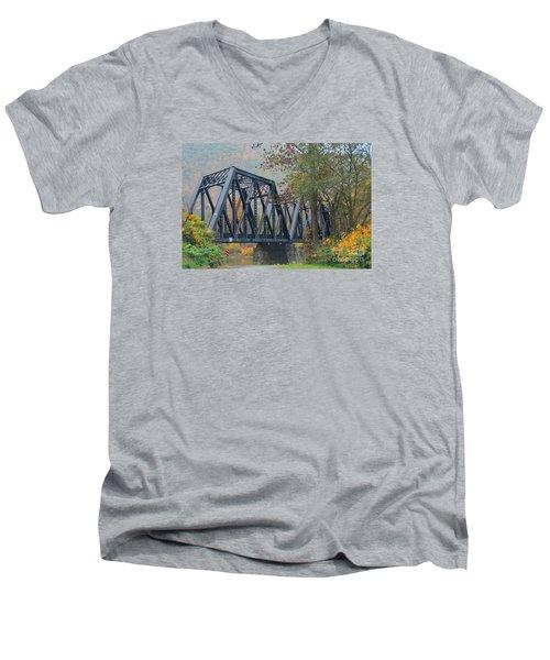 Pennsylvania Bridge Men's V-Neck T-Shirt