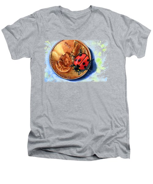 Penny And Lady Bug Men's V-Neck T-Shirt