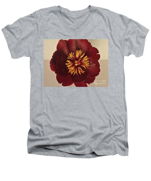Penny Peony Men's V-Neck T-Shirt