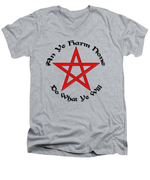 Pentagram Men's V-Neck T-Shirt by Bob Slitzan