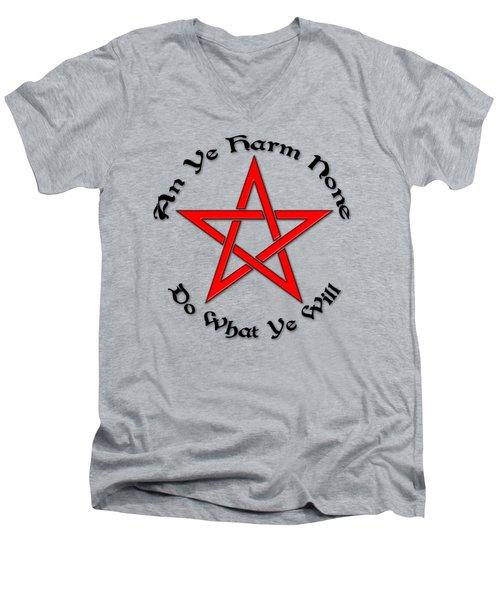 Pentagram Men's V-Neck T-Shirt