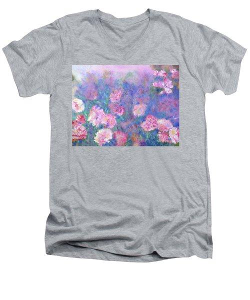 Peonies Men's V-Neck T-Shirt