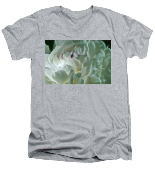 Peony Flower Energy Men's V-Neck T-Shirt