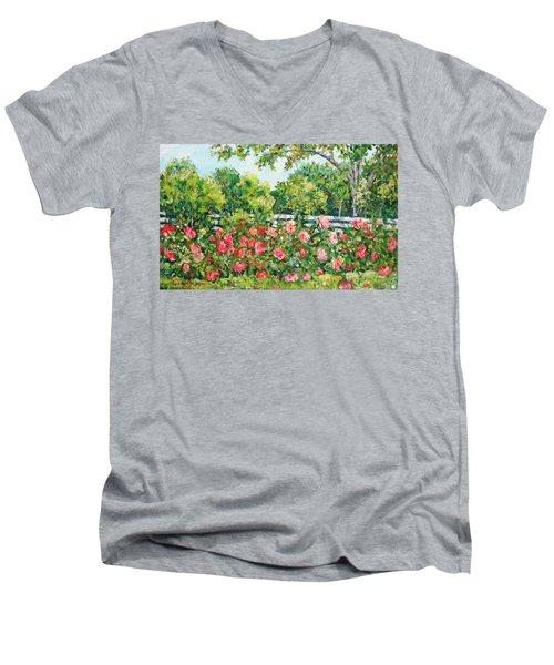 Peony Riot Men's V-Neck T-Shirt