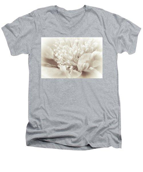 Peony 5 Men's V-Neck T-Shirt by Bonnie Bruno