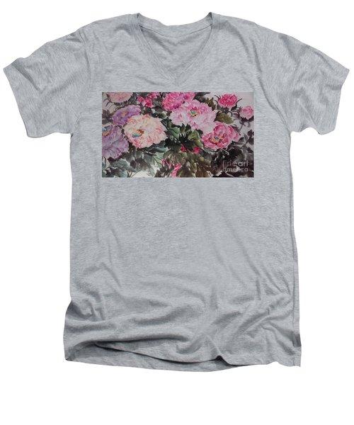 Peony20170126_2 Men's V-Neck T-Shirt