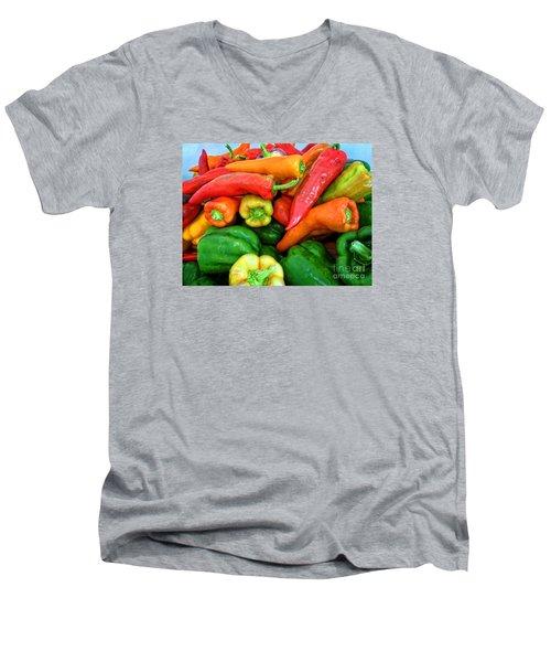 Pepper Medley 1 Men's V-Neck T-Shirt