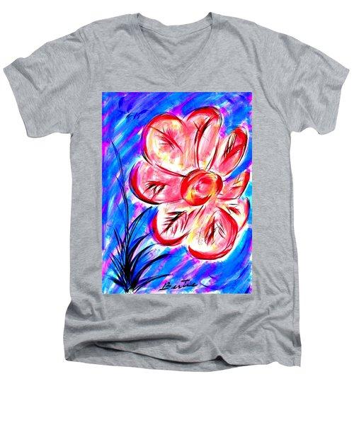 Peppermint Kiss Men's V-Neck T-Shirt