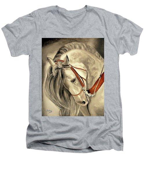 Peralta Andalucian Men's V-Neck T-Shirt by Manuel Sanchez