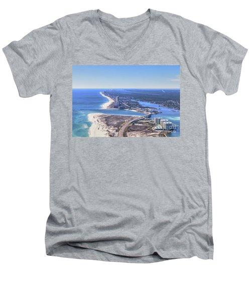 Perdido Pass Bridge 4319 Men's V-Neck T-Shirt