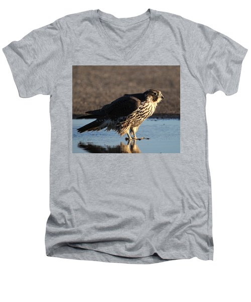Peregrine Falcon Shirley New York Men's V-Neck T-Shirt