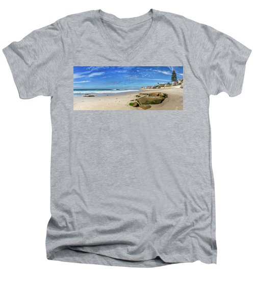 Men's V-Neck T-Shirt featuring the photograph Perfect Day At Horseshoe Beach by Peter Tellone