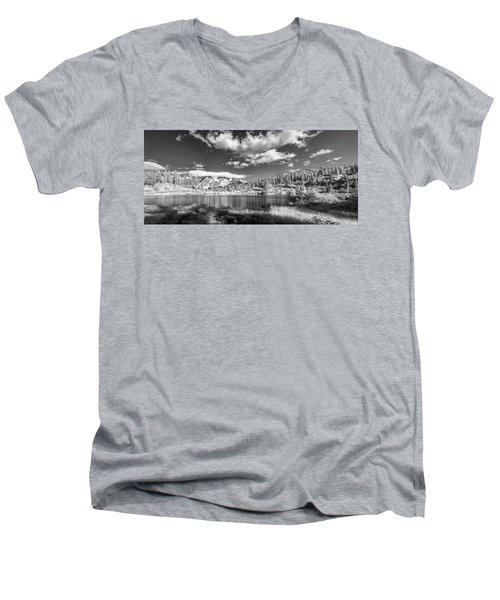 Men's V-Neck T-Shirt featuring the photograph Perfect Lake At Mount Baker by Jon Glaser