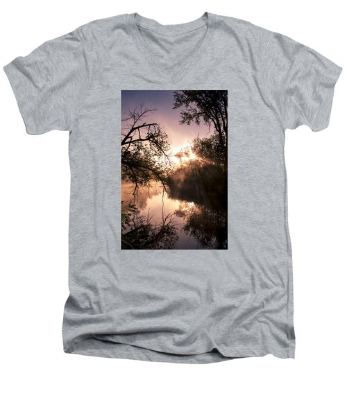 Men's V-Neck T-Shirt featuring the photograph Perfect Reflections by Annette Berglund
