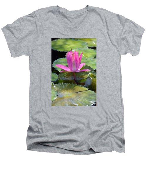 Perfection Men's V-Neck T-Shirt by Deborah  Crew-Johnson