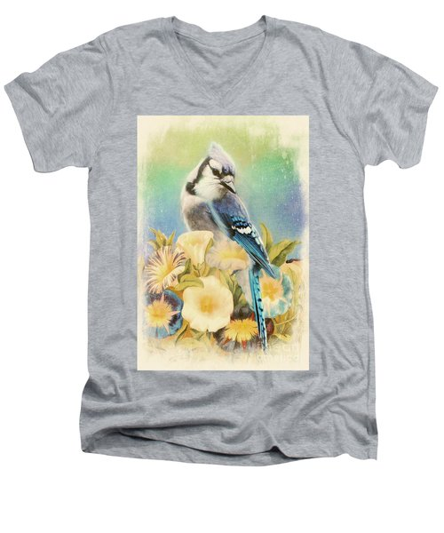 Perfectly Poised Men's V-Neck T-Shirt by Tina LeCour